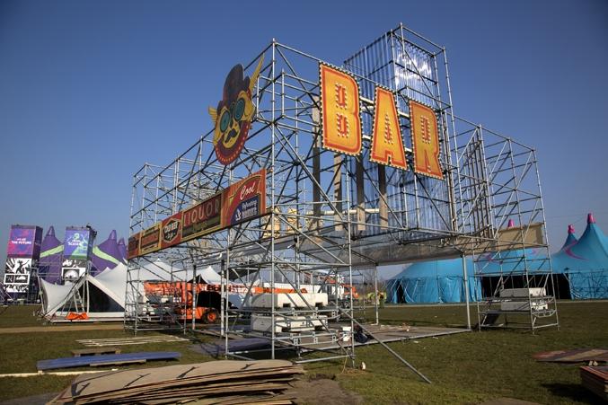 barcontructie voor festival