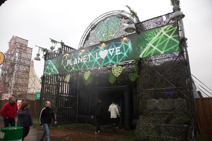 entreeconstructie festival area