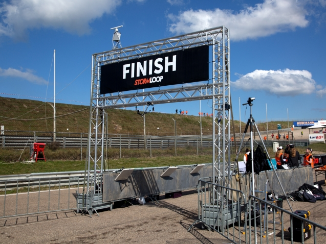 finishconstructie sportwedstrijd