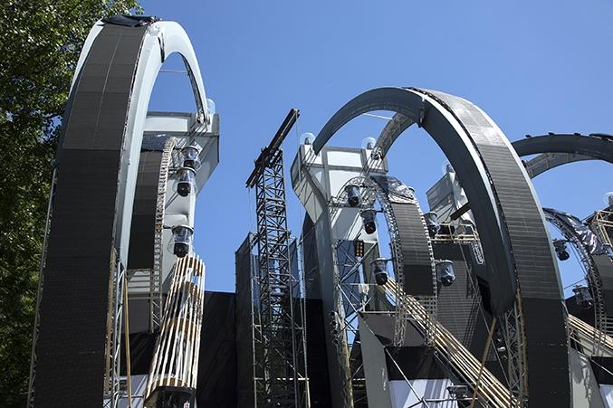 pa-toren met rollerbeam festival