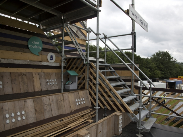 schaartrap in decorconstructie pinkpop
