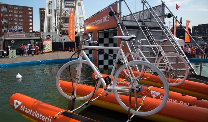 coreworks event constructie nk waterfietsen amsterdam
