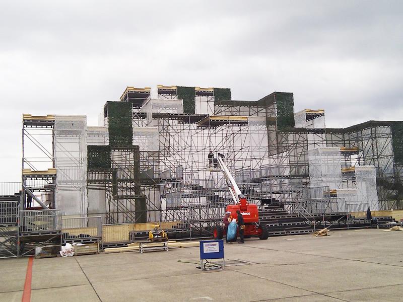 Fashion event opbouw constructie