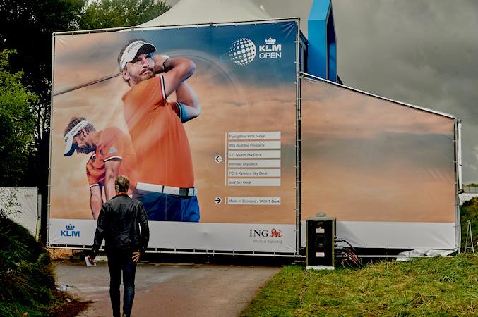 KLM OPen banners sportevenement