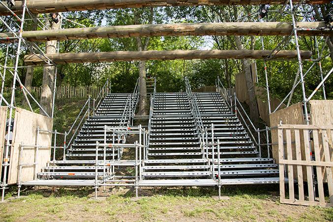 tijdelijke trapconstructie voor evenement
